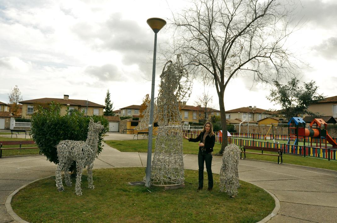 Una de los motivos navideños en Villas de Valdelagua