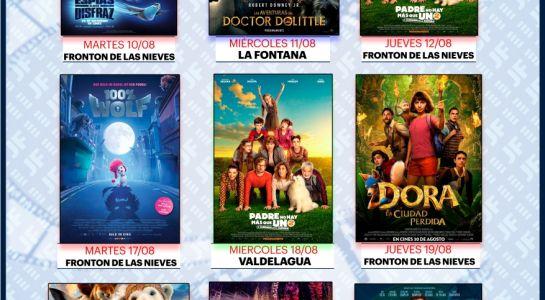 Hoy comienzan las proyecciones del  Cine de Verano del mes de  agosto