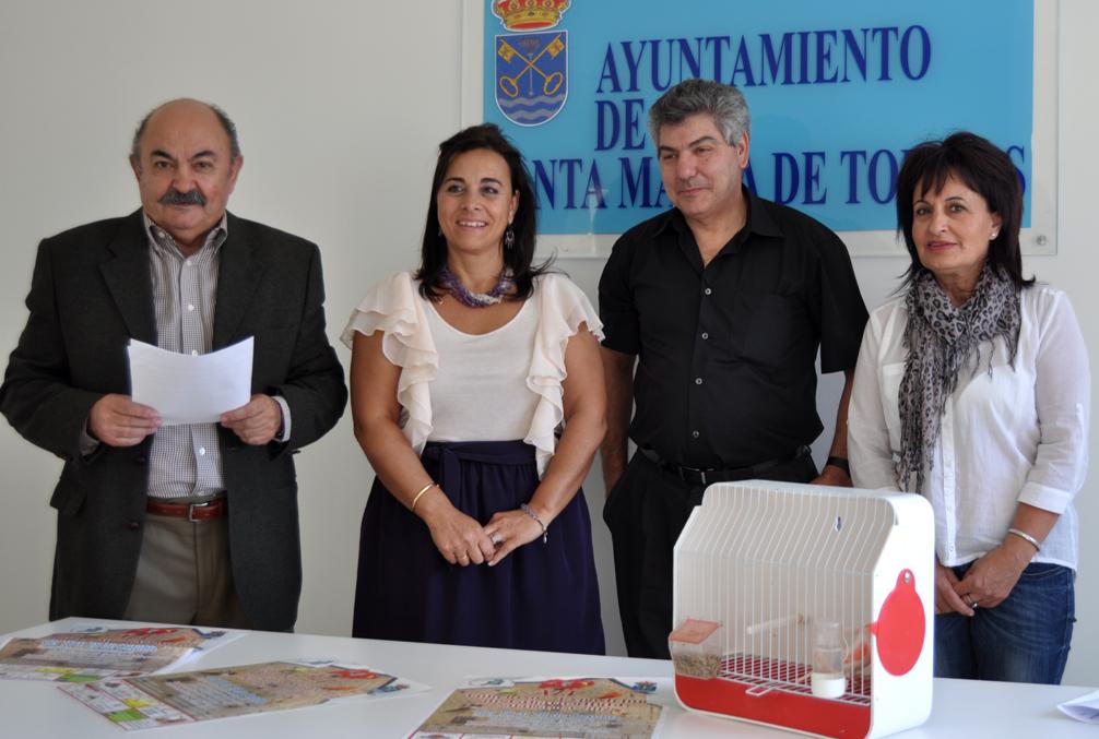 Amador Izquierdo, Mª Cruz Gacho, Luis Portilla y Milagros Zamorano en la presentación (Fotos: Comunicación Ayto.)