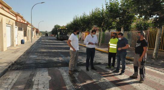 Arranca  el proyecto global de pavimentación del municipio en la calle Gutiérrez Mellado